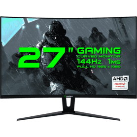 "MONITOR LED 27"" GAMEMAX GMX27C144 BLACK"