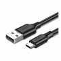 CABLE DATA USB TO TYPE C USB 1M 60116 BLACK UGREEN