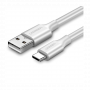 CABLE DATA USB TO TYPE C USB 1.5M 60122 WHITE UGREEN